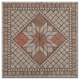 Beige Marble Mosaic Medallions