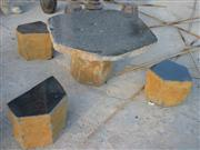 Basalt Stone Table Set