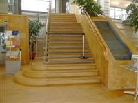 Stairs with limestone