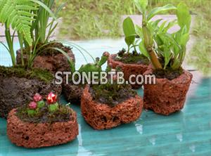 Volcanic Rock Flower Pot