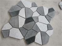 Crazy Paver, mixed with polish evergreen