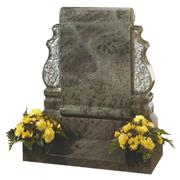 Beautiful ocen green granite tombstone