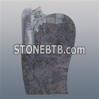 Bahama blue granite carved angel