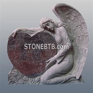 monument carved angel and heart