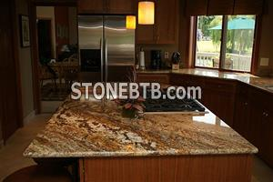 Get Mystic Gold Granite Kitchen Countertops at Cheap Price UK