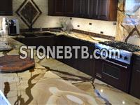Stone Wood Granite Kitchen Countertops at Affordable in London