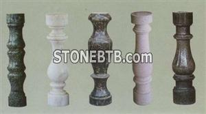 Balusters, Green, White, Gray