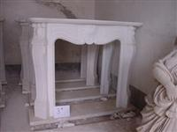France Style White Marble Fireplace MBF003