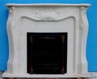 France Style Grey Marble Fireplace MBF008-1