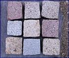 New granite paving stones
