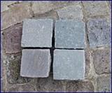 Imported grey sandstone paving stones