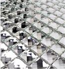 Silver Mirror Crystal Glass Mosaic Tile
