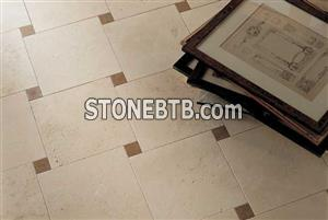 Travertine navona and travertine noce flooring