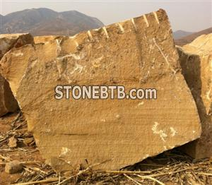 Pure Yellow Sandstone Block