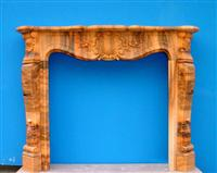 France Style Yellow Marble Fireplace MBF009-1