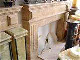 Fireplaces- Marble, Travertine, Granite fireplace