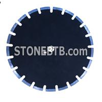 Asphalt diamond saw blade-U slot