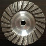Aluminum turbo cup wheel