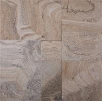 Silver Filled Versailles Pattern Travertine