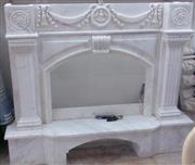 Fireplace-White Marble