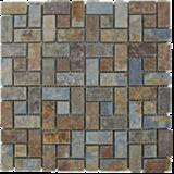 china rusty slate mosaic tiles