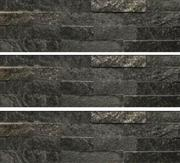 Black Quartzite Wall Panel Culture Stone