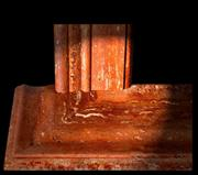 Red Travertine Cuts, Assembly