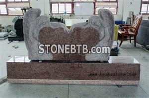 tombstone double angel and heart