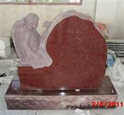 Headstone angel red