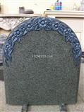 Flower carving headstone
