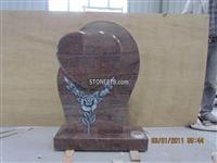 Antique flower carving headstone