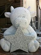 Animal Carving Headstone