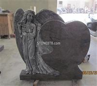 Angel headstone,carving headstone