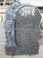 Angel carving headstone,granite headstone