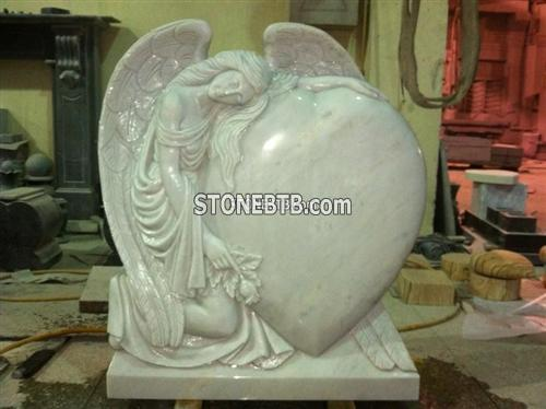 White Marble Headstone,Angel Headstone