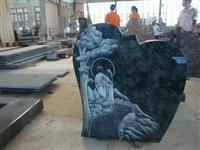 Line Carving Headstone22