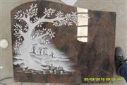 Line carving headstone79