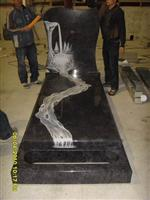 Line carving headstone85