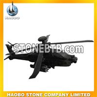 Black helicopter sculpture