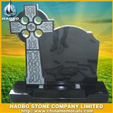 Black cross headstone