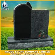 Inlay flower granite tombstone