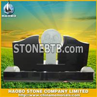 White carving granite tombstone