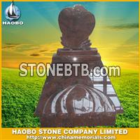 granite red tombstone in Hungary design