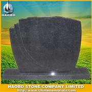 black single headstone