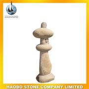yellow granite sculptured lamp