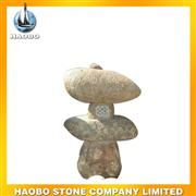 yellow granite unique sculptured lamp