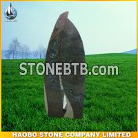 German style Aurora granite tombstone