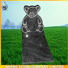 granite bear headstone monumenet