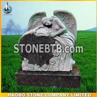 American style, angel with heart headstone