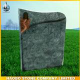 Wisconsin white granite headstone,German style